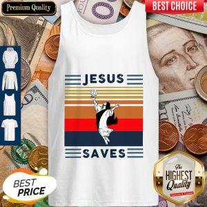 Top Jesus Saves Volleyball Vintage Tank Top