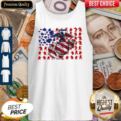 United States Marine Corps American Flag Veteran Independence Day Tank Top
