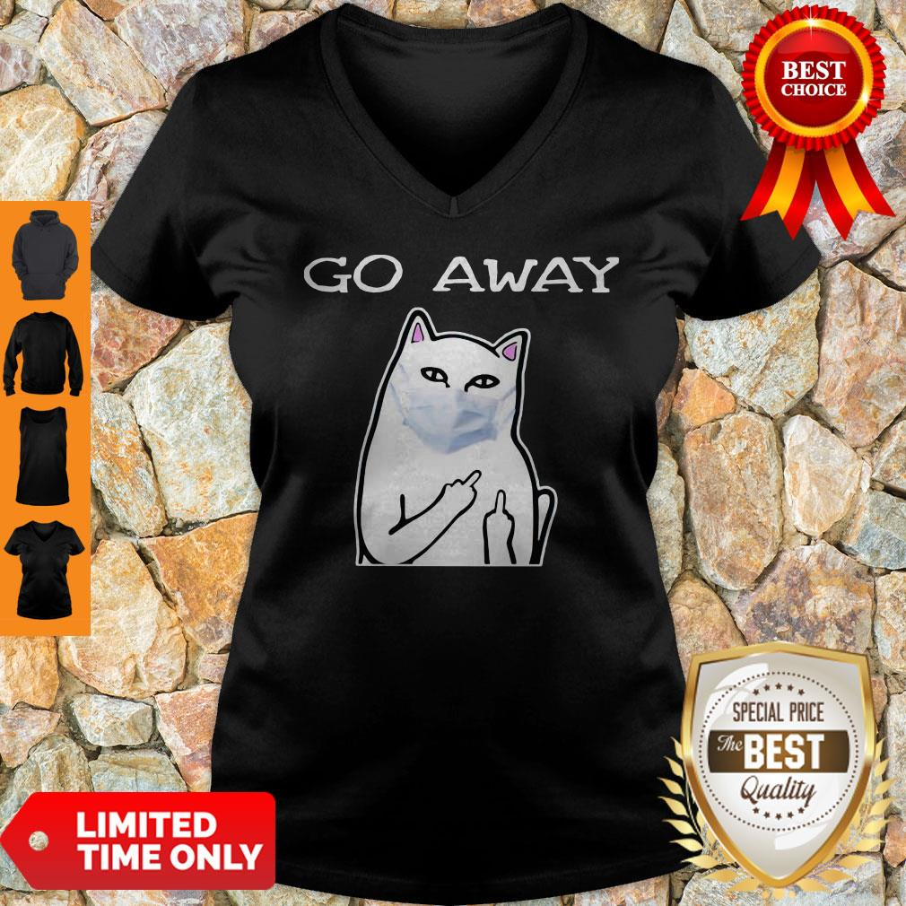 Top Cat White Mask Go Away V-neck