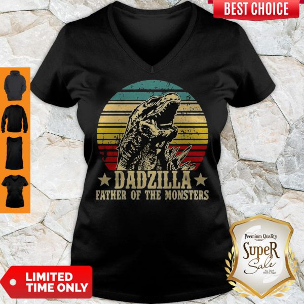 Nice Gorilla Dadzilla Father Of The Monsters V-neck