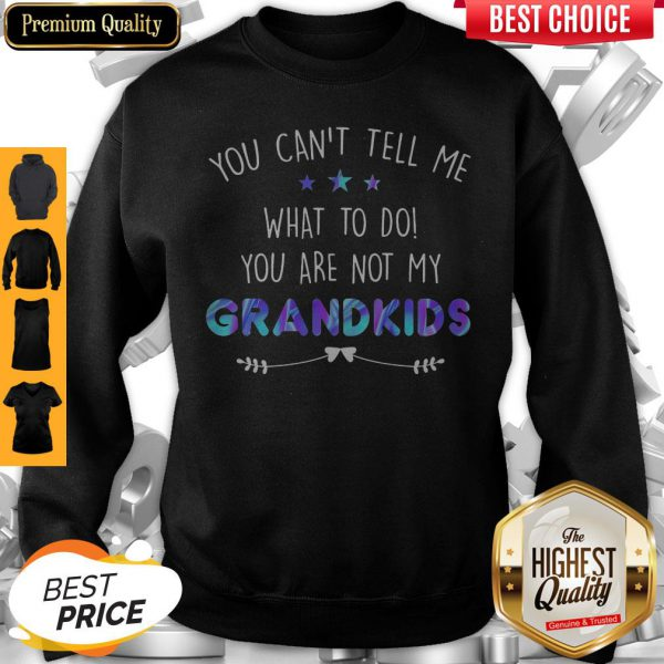 You Can't Tell Me What To Do You Are Not My Grandkids Stars Sweatshirt
