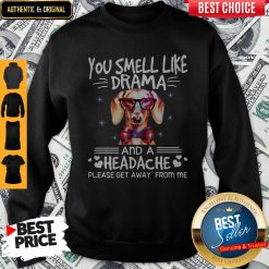 You Smell Like Drama Dog And A Headache Please Get Away From Me Sweatshirt