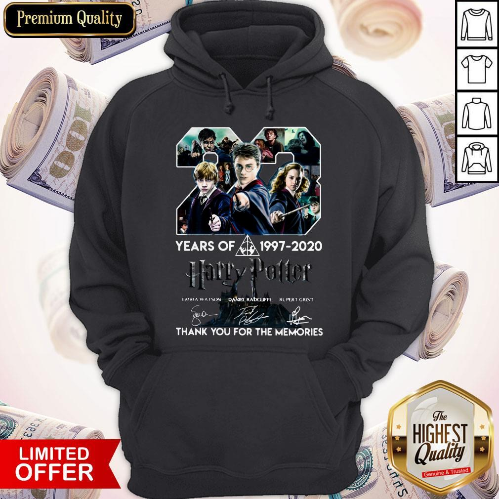 23 Year Of Harry Potter 1997-2020 Thank You For The Memories Signatures Hoodie