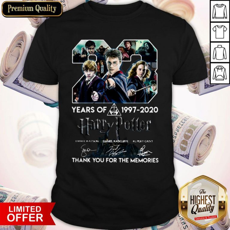 23 Year Of Harry Potter 1997-2020 Thank You For The Memories Signatures Shirt