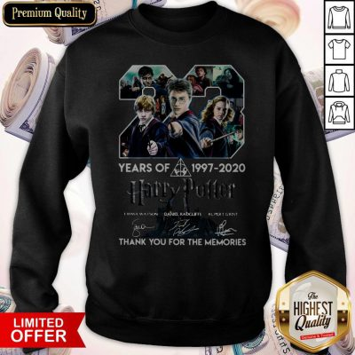 23 Year Of Harry Potter 1997-2020 Thank You For The Memories Signatures Sweatshirt
