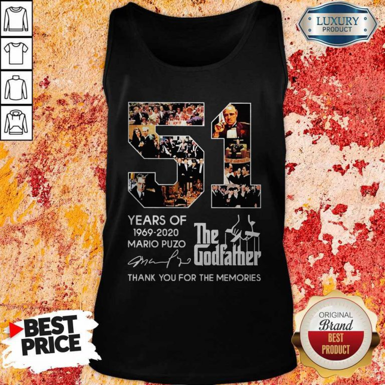51 Years Of The Godfather 1969-2020 Mario Puzo Signature Tank Top