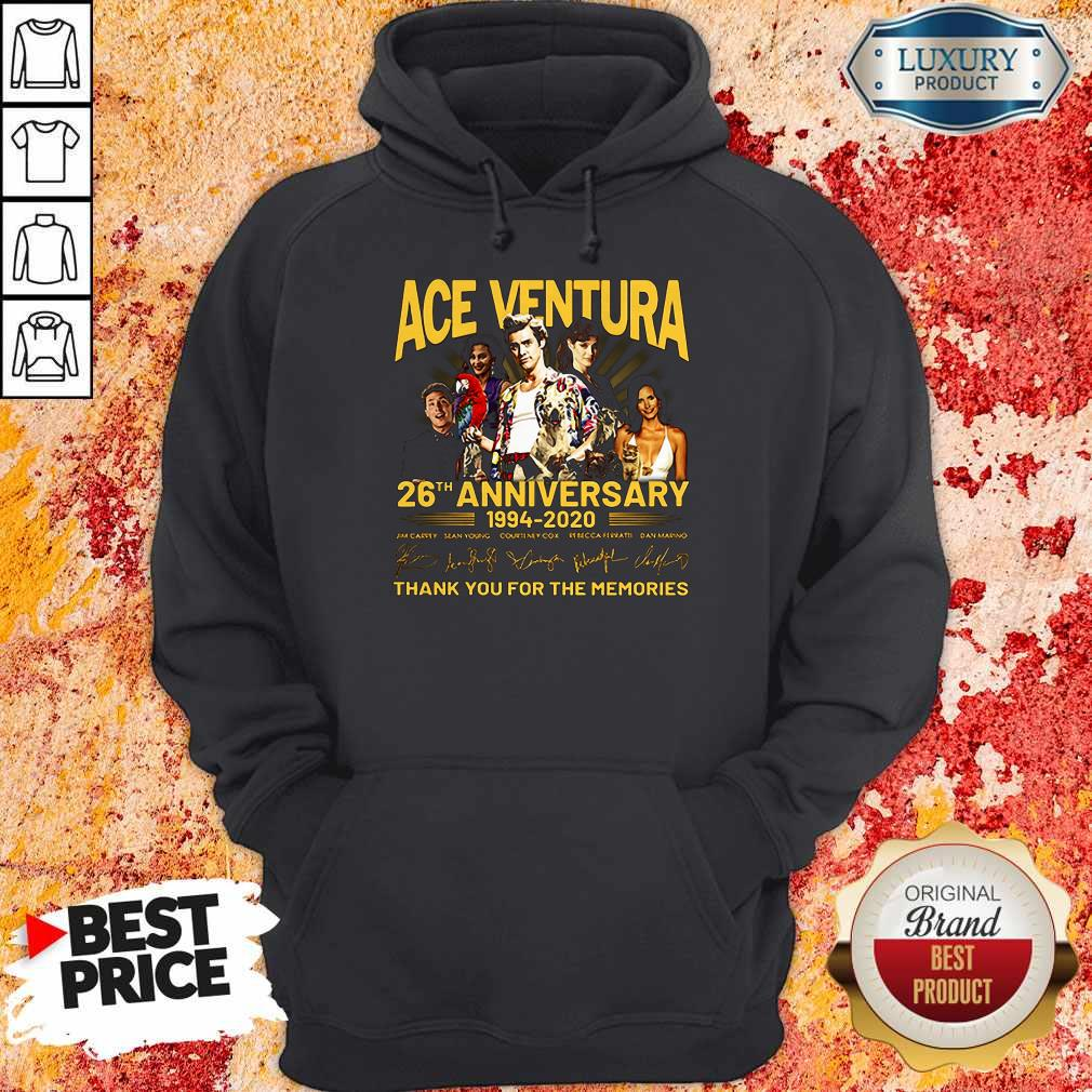 ACE Ventura 26th Anniversary 1994 2020 Thank You For The Memories Signatures Hoodie