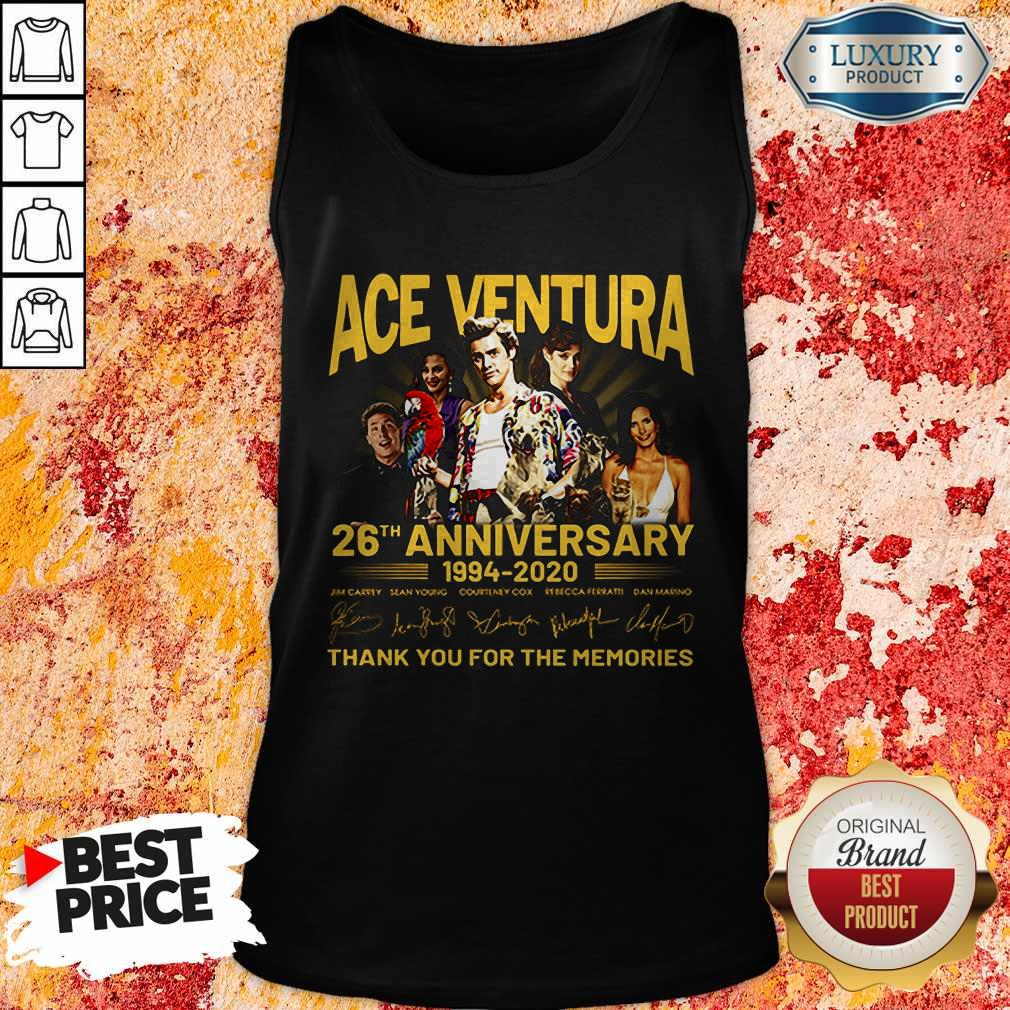 ACE Ventura 26th Anniversary 1994 2020 Thank You For The Memories Signatures Tank Top