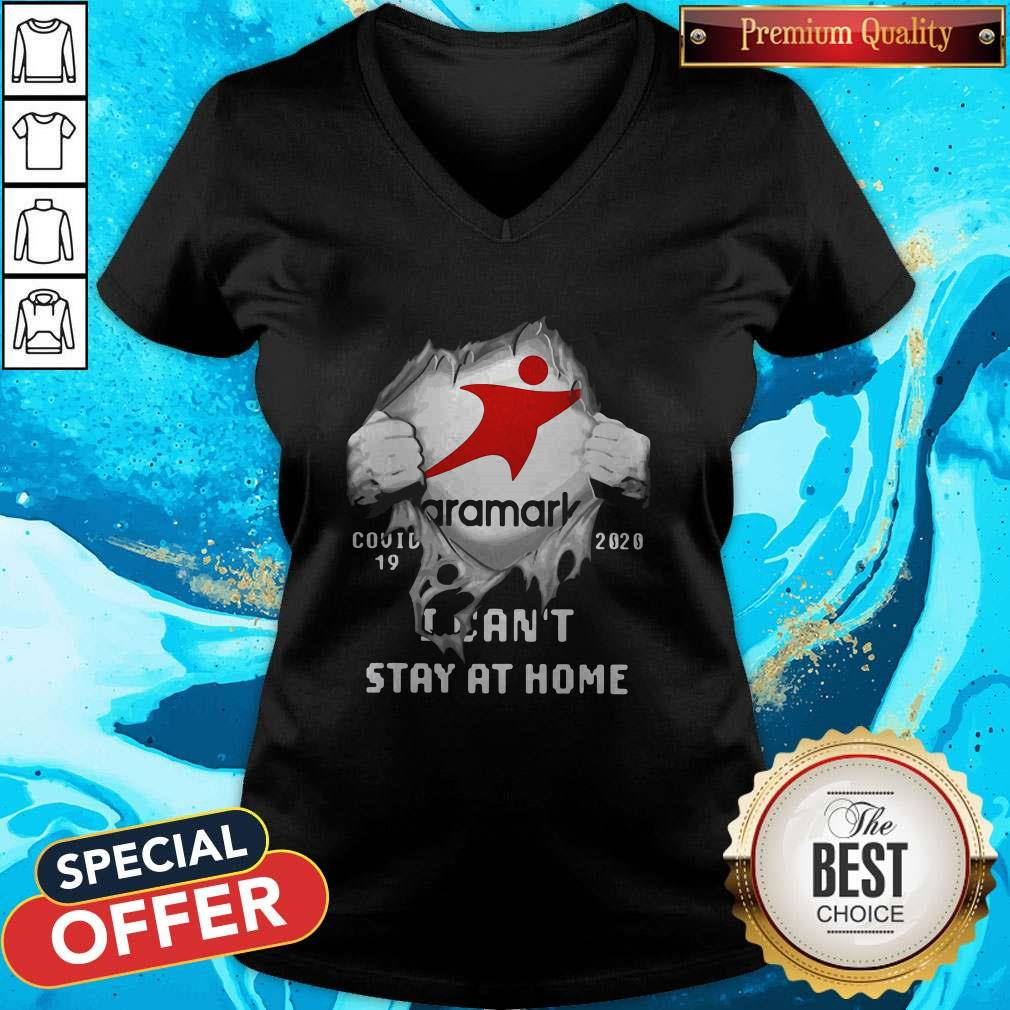 Aramark Inside Me COVID-19 2020 I Can't Stay At Home V-neck