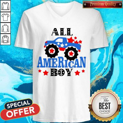 Awesome All American Boy Independence Day V-neck