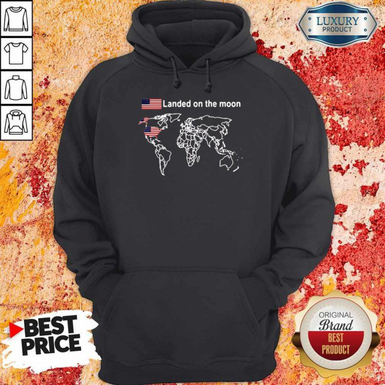 Awesome America Landed On The Moon Hoodie