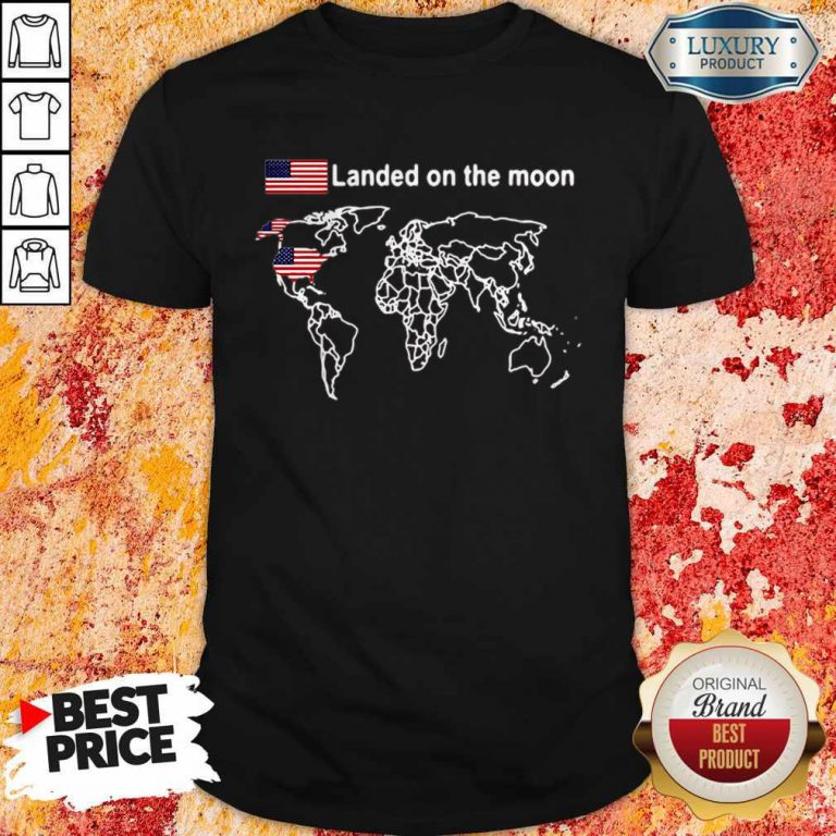 Awesome America Landed On The Moon Shirt