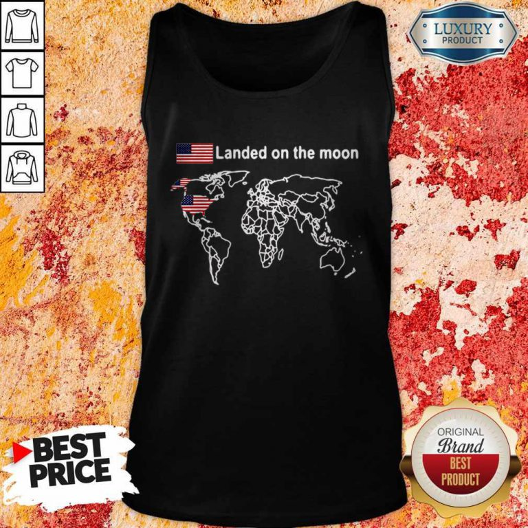 Awesome America Landed On The Moon Tank Top
