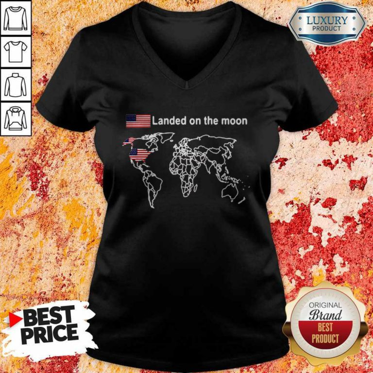Awesome America Landed On The Moon V-neck