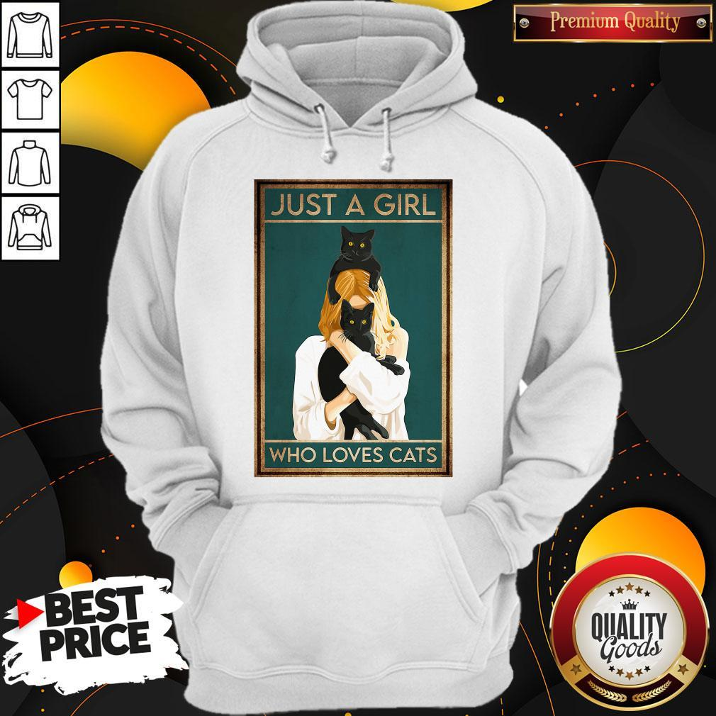 Awesome Just A Girl Who Loves Cats Hoodie