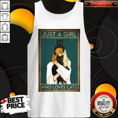 Awesome Just A Girl Who Loves Cats Tank Top