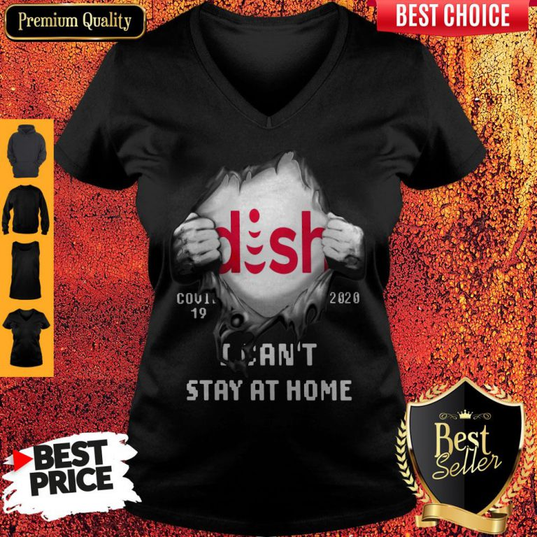 Blood Inside Me Dish COVID-19 2020 I Can't Stay At Home V-neck