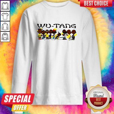 Cute Black Charlie Brown Wu Tang Clan Sweatshirt