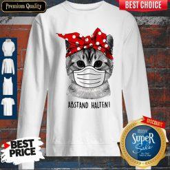 Cute Cat Face Mask Abstand Halten Sweatshirt