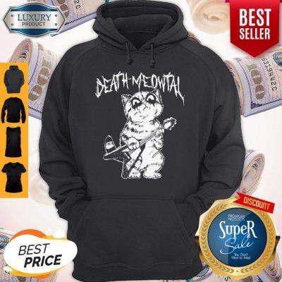 Cute Death Meowtal Death Metal Hoodie
