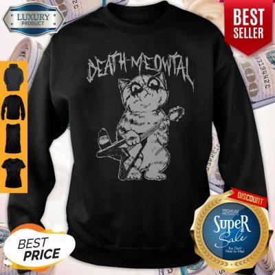 Cute Death Meowtal Death Metal Sweatshirt
