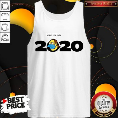 Cute Jeff Albertson Face Mask Worst Year Ever 2020 Tank Top