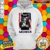 Cute Meowica 14th of July Independence Day Flag Hoodie