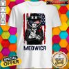 Cute Meowica 14th of July Independence Day Flag Shirt