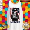 Cute Meowica 14th of July Independence Day Flag Tank Top