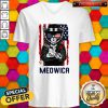 Cute Meowica 14th of July Independence Day Flag V-neck