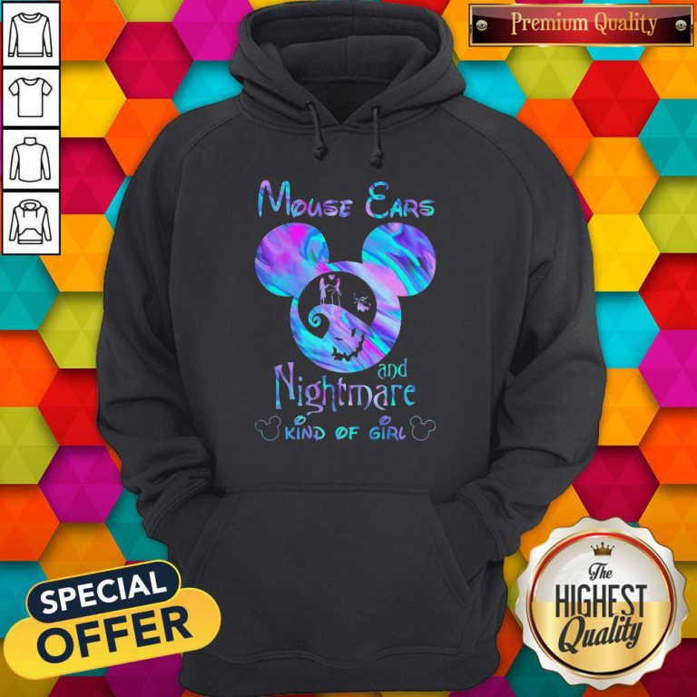 Cute Mickey Mouse Cars And Nightmare Kind Of Girl Hoodie
