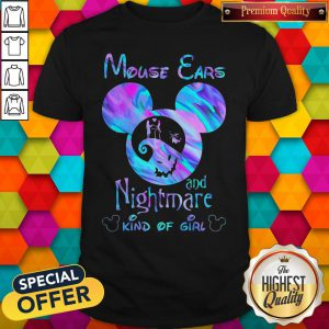 Cute Mickey Mouse Cars And Nightmare Kind Of Girl Shirt
