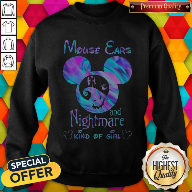 Cute Mickey Mouse Cars And Nightmare Kind Of Girl Sweatshirt