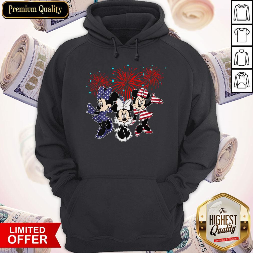 Cute Mickey Mouse Happy The 4th Of July Merica Hoodie