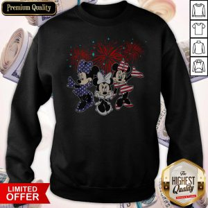 Cute Mickey Mouse Happy The 4th Of July Merica Sweatshirt