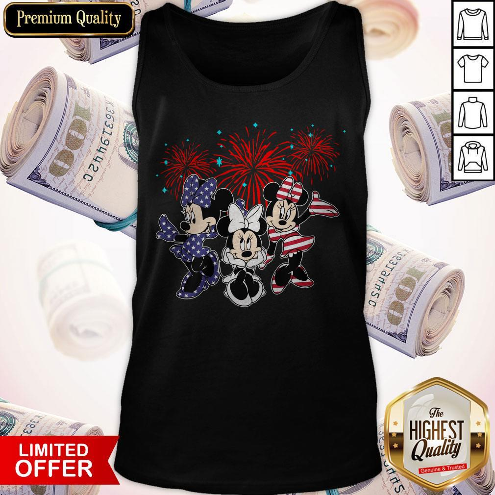 Cute Mickey Mouse Happy The 4th Of July Merica Tank Top