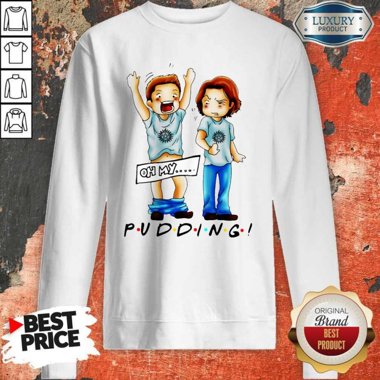 Cute Sam And Dean Winchester On My Pudding Sweatshirt