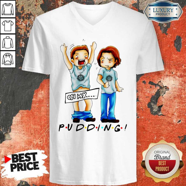 Cute Sam And Dean Winchester On My Pudding V-neck