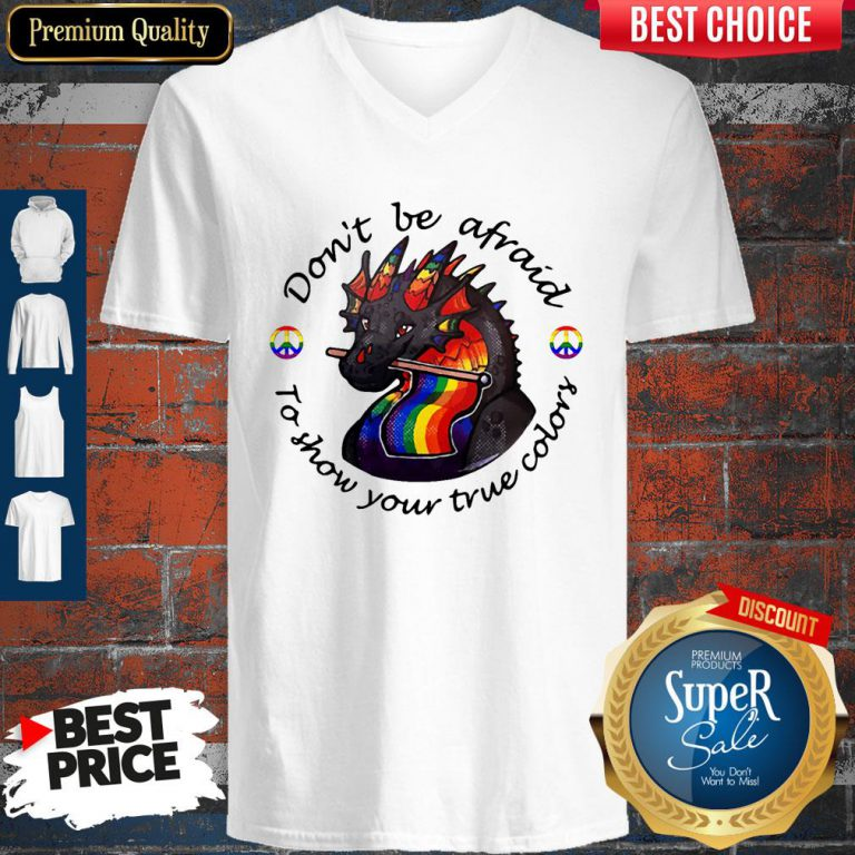 Dragon LGBT Don't Be Afraid To Show Your True Color V-neck