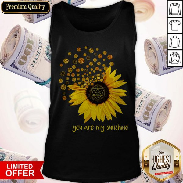 Dungeons Dragons Sunflower You Are My Sunshine Tank Top