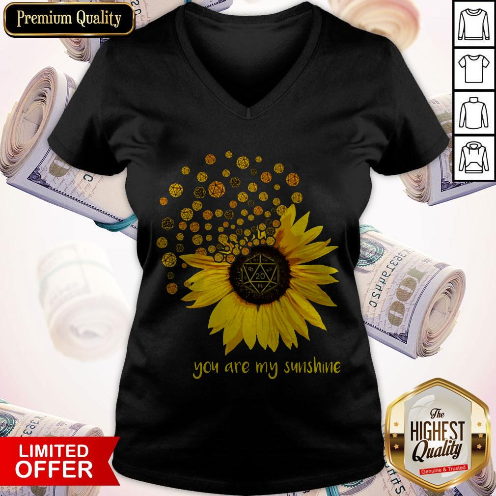 Dungeons Dragons Sunflower You Are My Sunshine V-neck