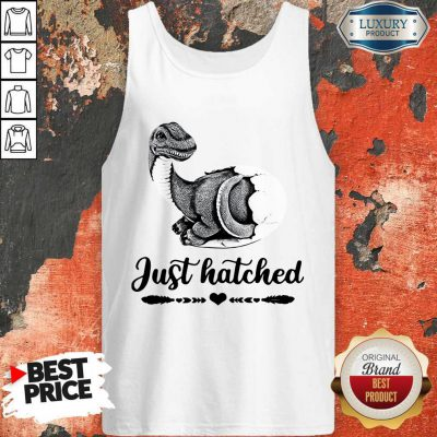Funny Saurus Just Hatched Tank Top