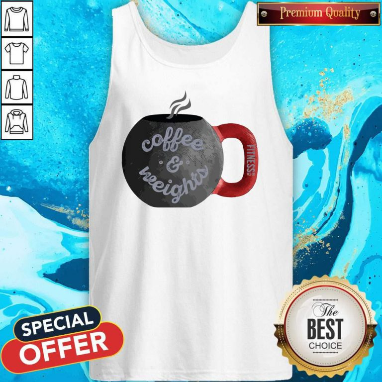 Good Coffee And Weights Fitness Tee Co Tank Top
