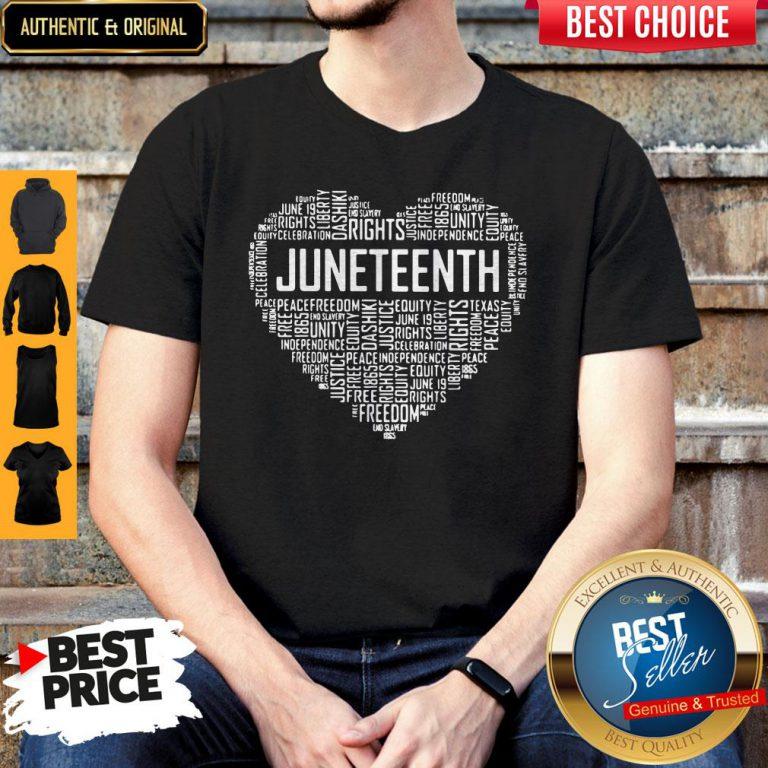 Good Love Rights Juneteenth Heart Shirt