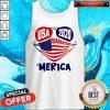 Good USA 2020 4th Of July Merica Quarantine Tank Top
