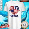 Good USA 2020 4th Of July Merica Quarantine V-neck