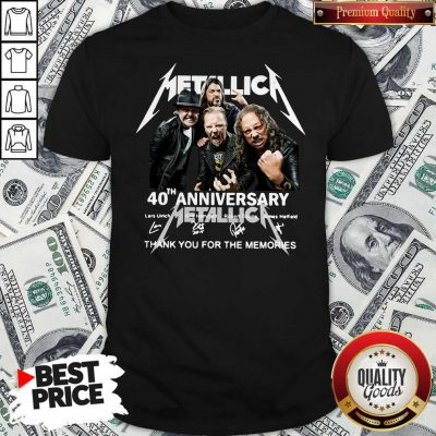 Metallica 40th Anniversary Thank You For The Memories Signatures Shirt