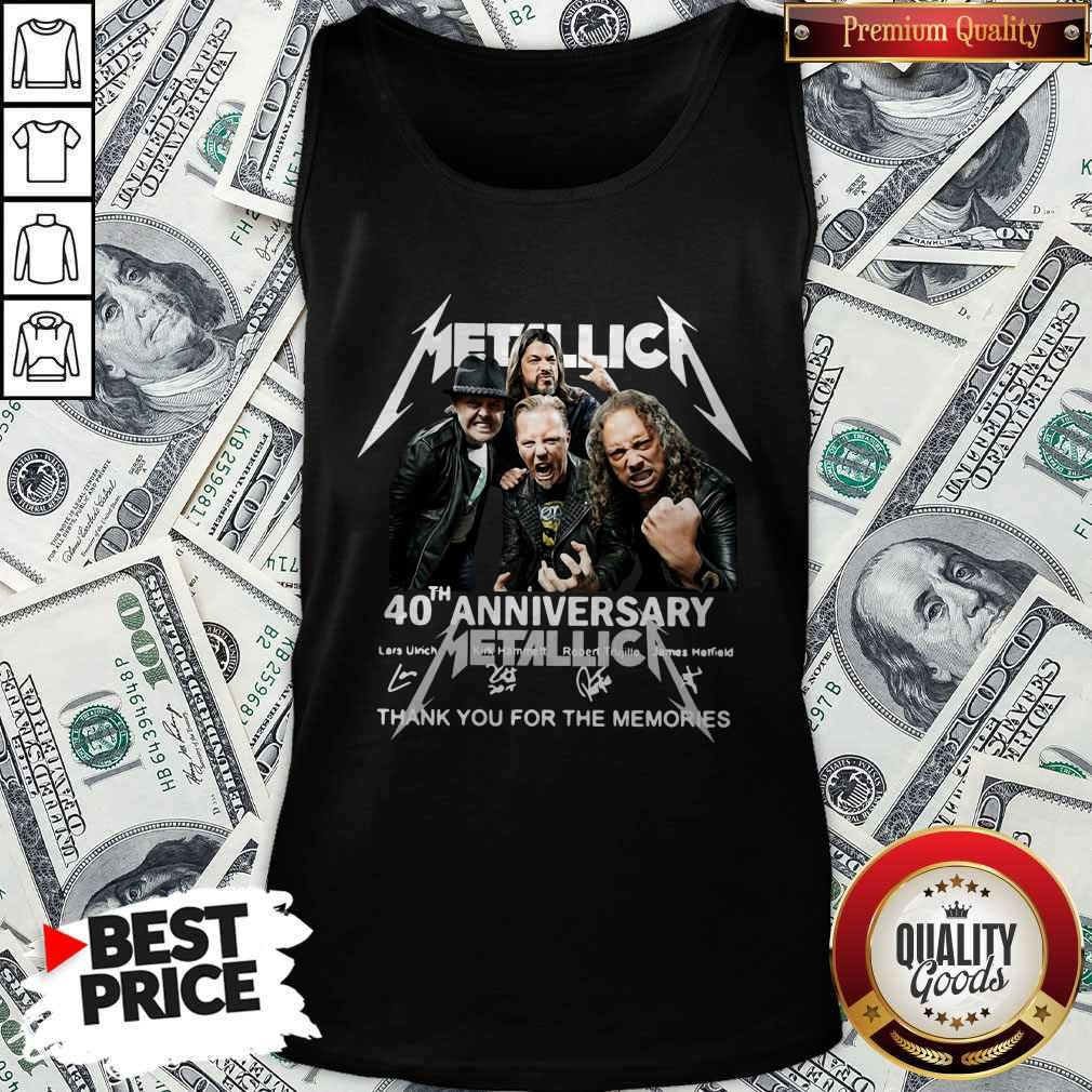 Metallica 40th Anniversary Thank You For The Memories Signatures Tank Top