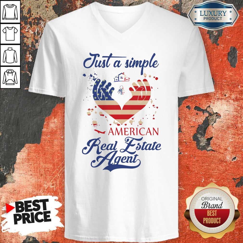 Nice Just A Simple American Real Estate Agent V-neck
