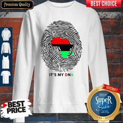 Nice Pan-African Flag It's My DNA Sweatshirt